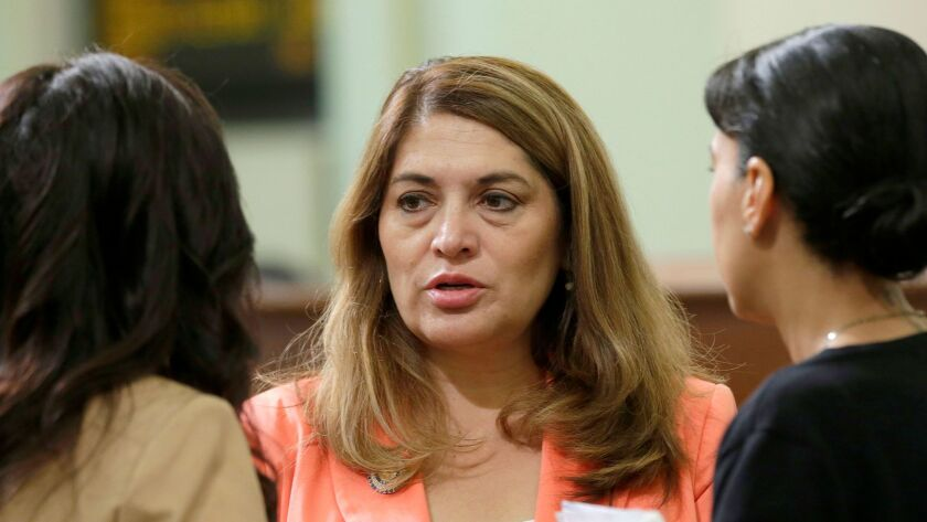 Assemblywoman Sharon Quirk-Silva (D-Fullerton), pictured in May, is sponsoring a bill that would require the state to place an investigator in Costa Mesa to look into complaints against licensed alcoholism or drug abuse treatment and recovery facilities.