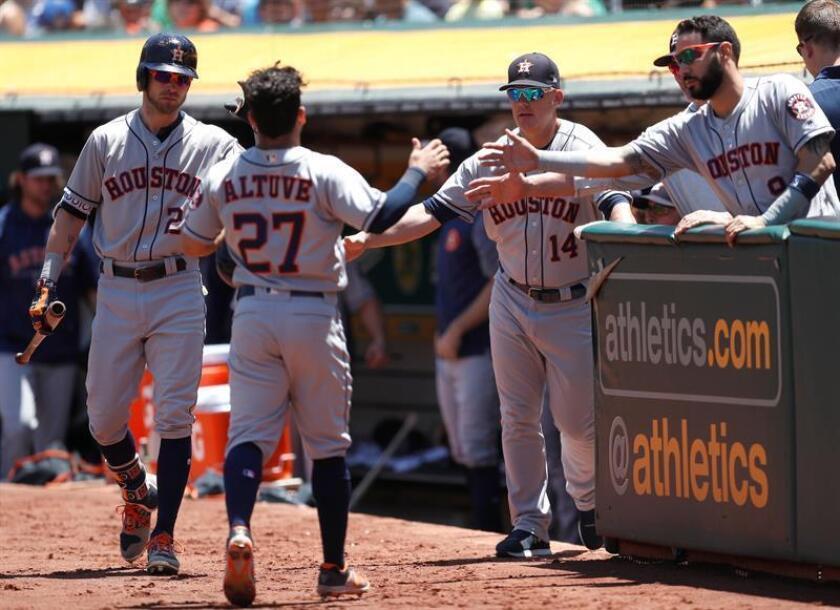 La victoria permitió a los Astros ponerse con marca de 58-31, la tercera mejor de la Liga Americana, y líderes en la División Oeste. EFE/Archivo