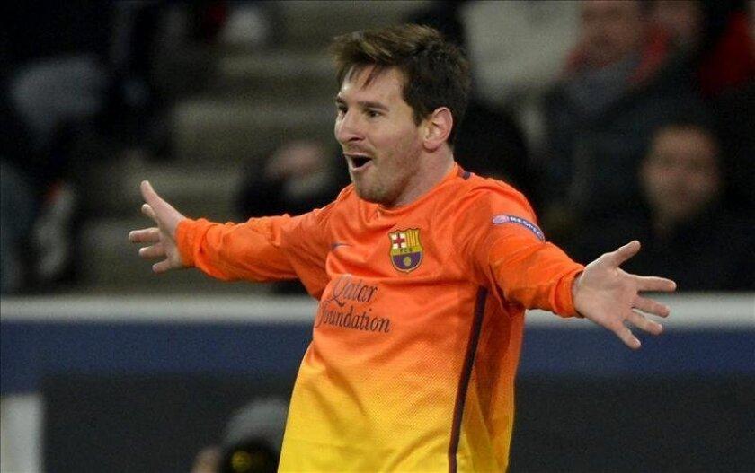 El delantero argentino del FC Barcelona, Lionel Messi. EFE/Archivo