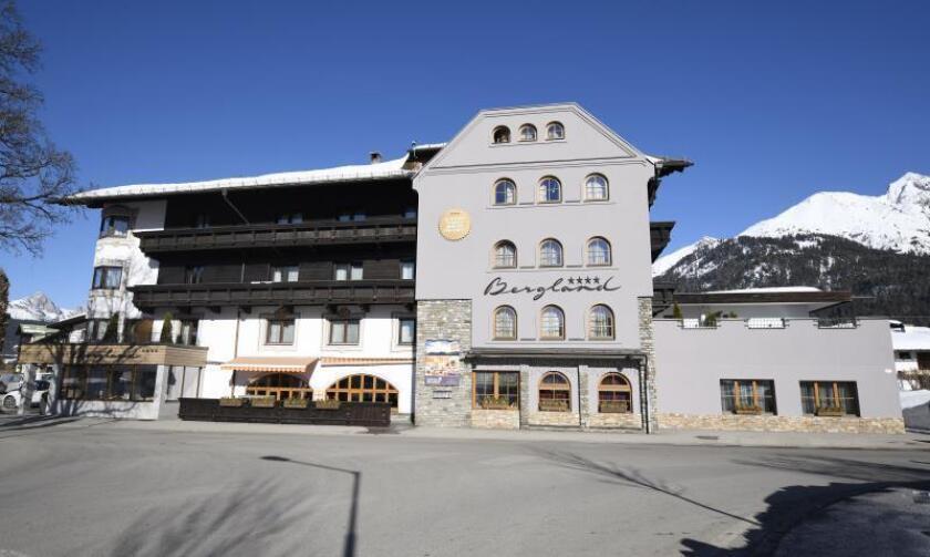 Fachada del hotel Bergland, donde se alojan los atletas austríacos durante los Campeonatos del Mundo de esquí nórdico que se disputan en Seefeld, Austria. EFE