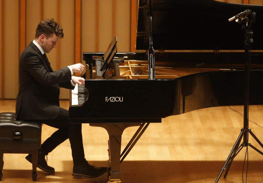 Richard Valitutto performs George Walker's Piano Sonata No. 5 on Tuesday at the Colburn School's Zipper Hall in downtown Los Angeles.