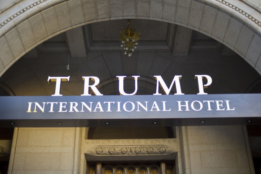 Trump International Hotel may be the new favorite spot for foreign officials visiting Washington.