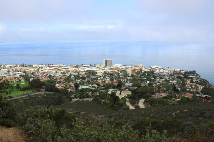 A panoramic view of the Village from la Jolla Natural Park