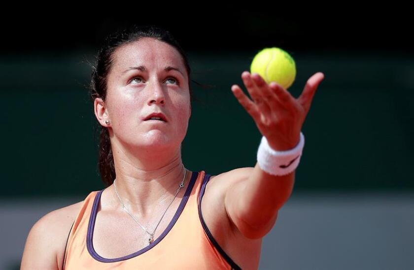 La tenista española Lara Arruabarrena. EFE/Archivo