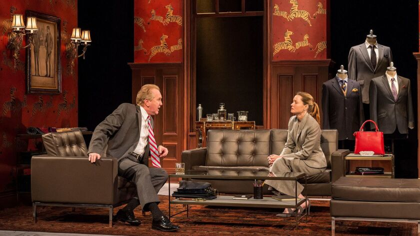 """Harry Groener plays the presidential hopeful, Samantha Sloyan is his daughter in Center Theatre Group's """"Vicuña."""""""
