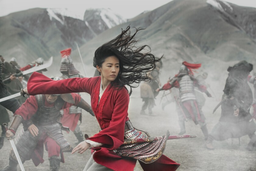 "Yifei Liu in Walt Disney Co.'s ""Mulan,"" whose release was pushed back from July 24 to Aug. 21."