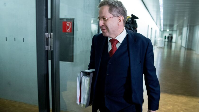 Hans-Georg Maassen, head of Germany's domestic intelligence service, in Berlin on Wednesday.