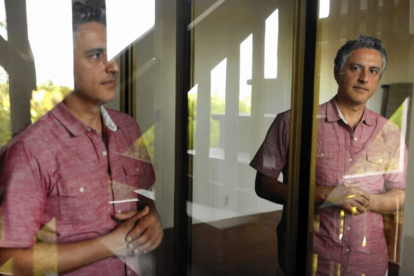 Author Dr. Reza Aslan at his home in Highland Park on April 3, 2016.