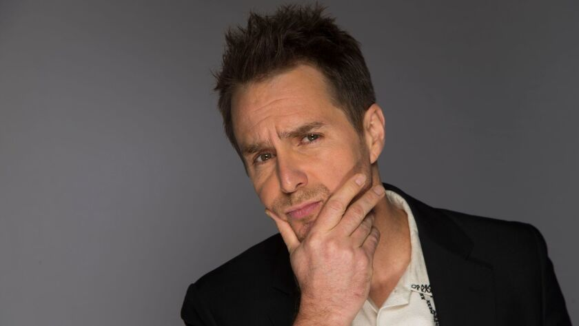 """Sam Rockwell, posing here for The Envelope's annual Oscar round table series, was nominated for his first Oscar on Tuesday morning for his performance in """"Three Billboards Outside Ebbing, Missouri."""""""