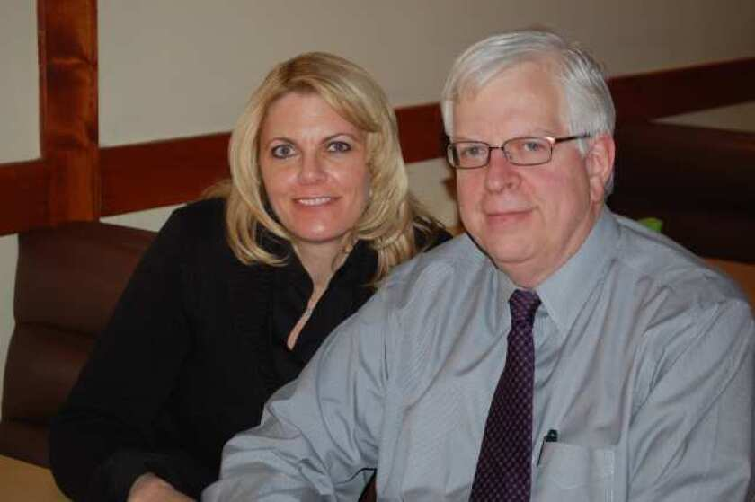 Susan and Dennis Prager pause after a meal at Ichiban Japanese Restaurant in La Canada Flintridge.