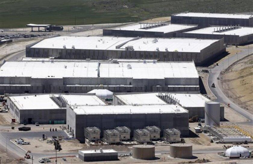 NSA's Utah Data Center is shown in this Thursday, June 6, 2013 file photo taken in Bluffdale, Utah.
