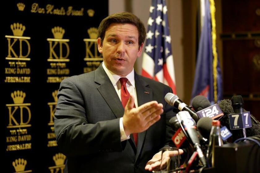 The Republican candidate for governor of Florida, Ron DeSantis. EFE/EPA/FILE