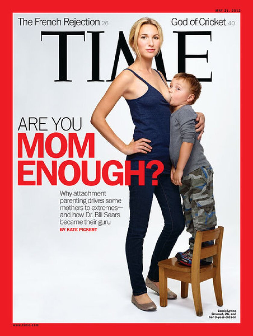 Time magazine breast-feeding cover provokes strong reaction