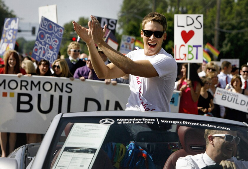 Pasadena City College paid Oscar-winning screenwriter Black $26,000 after it rescinded an invitation to speak at commencement for reasons that struck many as ill considered at best, homophobic at worst. Here, Black leads the 2012 Salt Lake City gay pride parade.