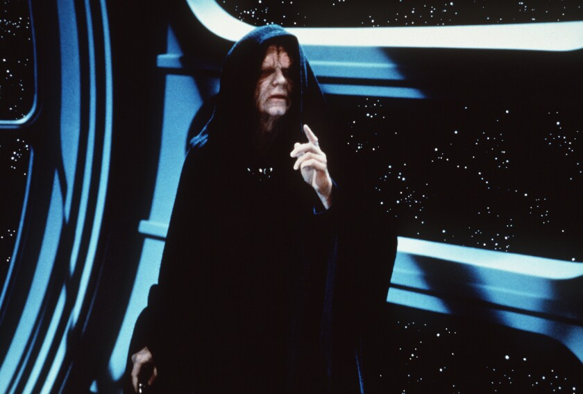 """The Emperor (Ian McDiarmid) is up to no good in """"Star Wars: Episode VI - Return of the Jedi."""""""
