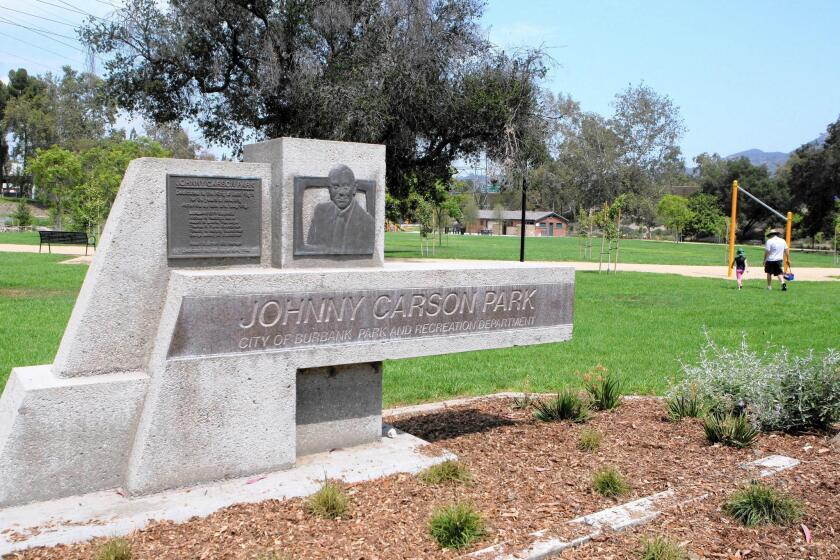 Johnny Carson Park on Bob Hope Drive is now open after major remodeling,.