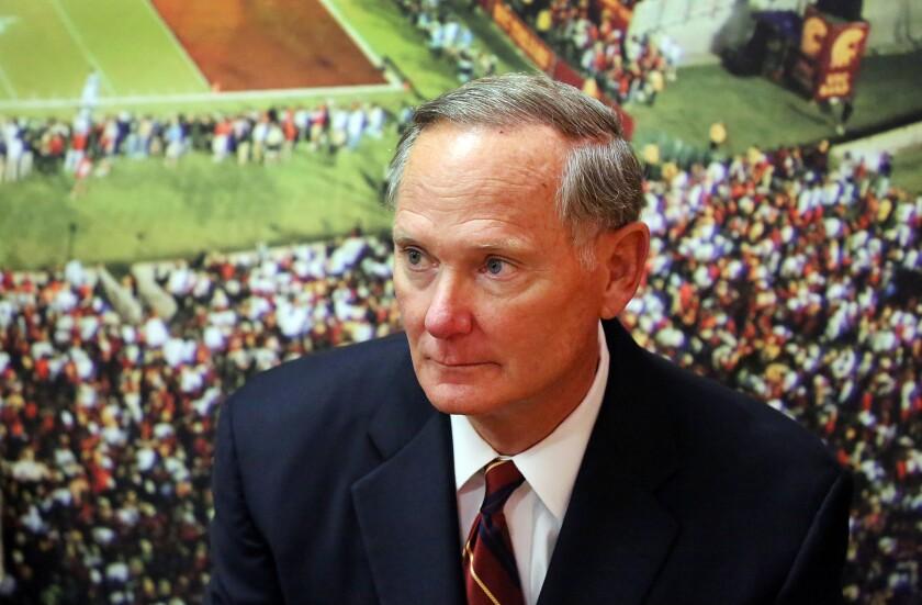 USC Athletic Director Pat Haden will retire June 30.
