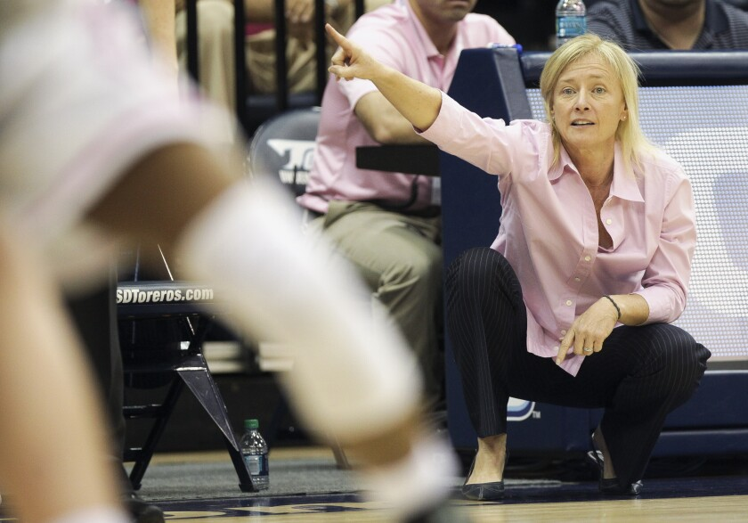 USD head coach Cindy Fisher, shown in this 2016 file photo, experienced more injuries on her team last season than at any time in her career.