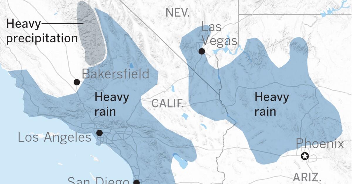 Ein atmosphärischer Fluss mit subtropischen Feuchtigkeit der Einnahme Ziel auf Süd-Kalifornien in der nächsten Woche