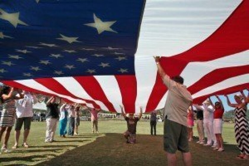 Last year's flag ceremony during Veterans Recognition Day at the San Diego Polo Club. Courtesy photo