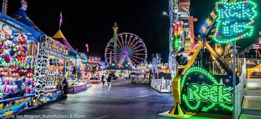 Vivid colors of the midway