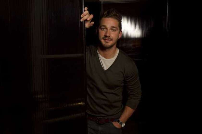 """Shia LaBeouf, shown here at the Four Seasons Hotel in Beverly Hills in 2011, will make his Broadway debut in April in the play """"Orphans,"""" co-starring Alec Baldwin."""