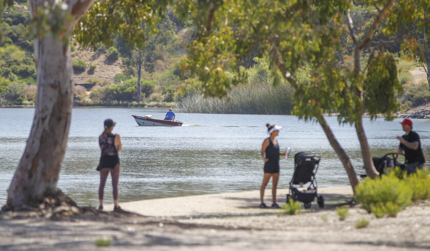 People enjoy the reopening of Lake Murray Reservoir.