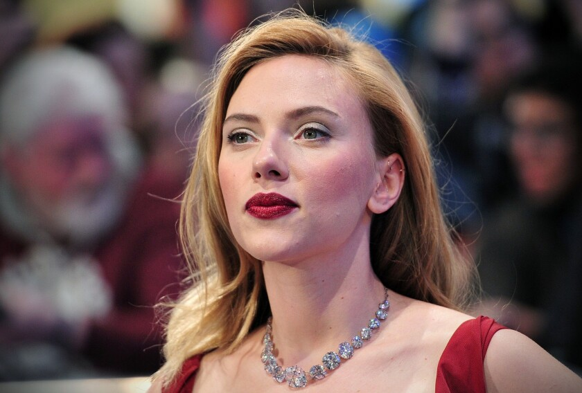 """Scarlett Johansson at the London premiere of """"Captain America: The Winter Soldier in London."""""""