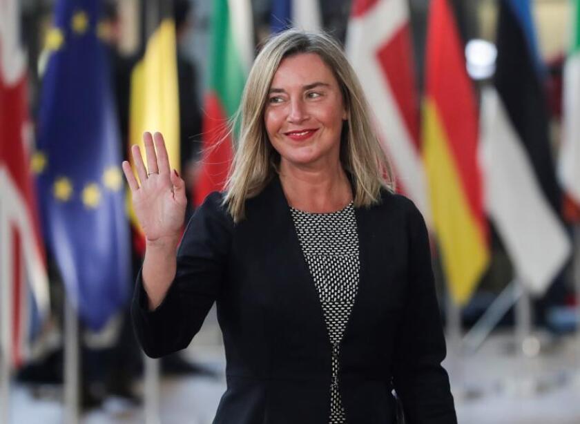 Mogherini inicia visita a México para evaluar estado de la relación con la UE