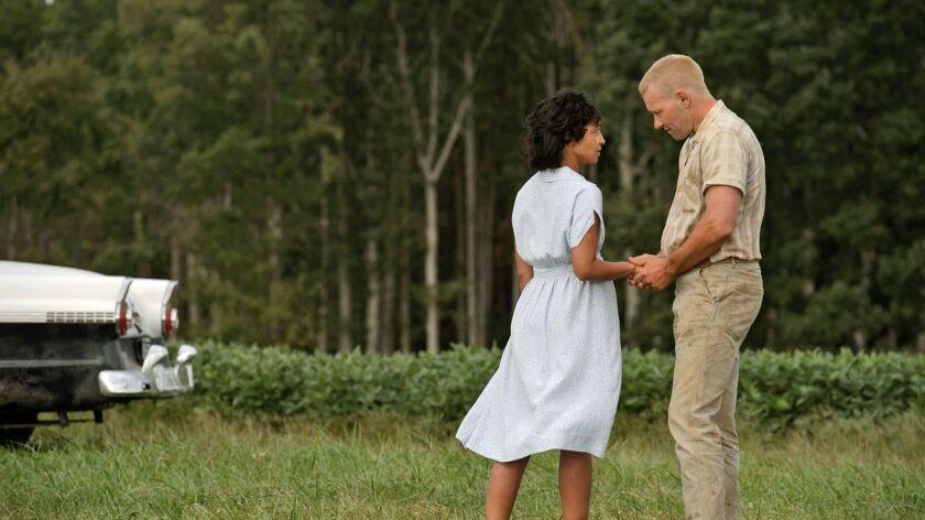 "Ruth Negga as Mildred and Joel Edgerton as Richard in ""Loving."" Credit: Ben Rothstein / Focus Featur"
