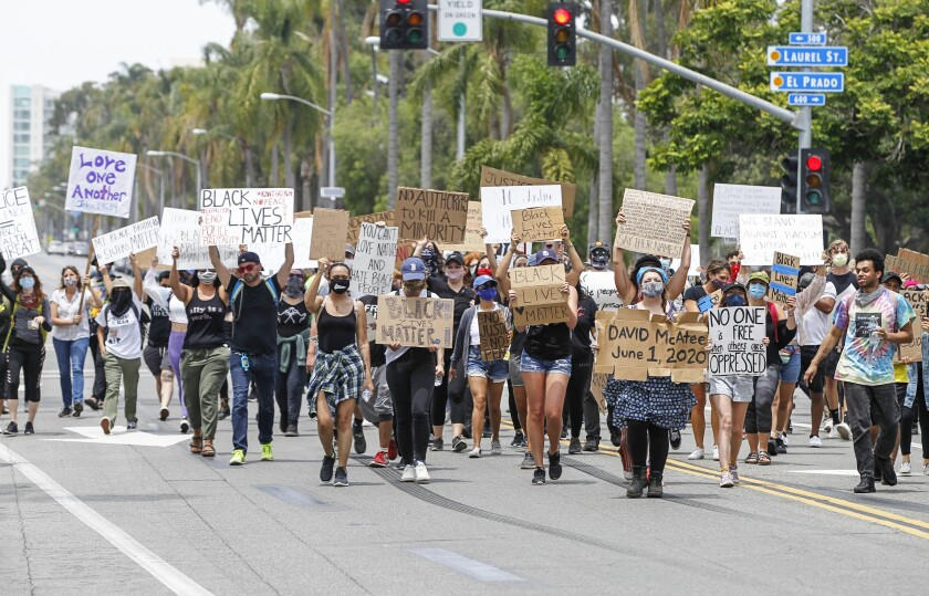 Balboa Park protest