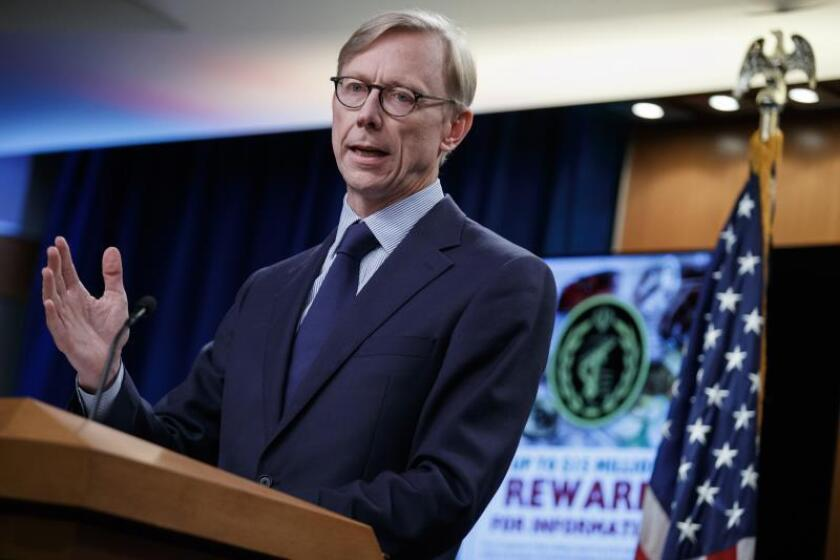 US Special Representative for Iran and Senior Advisor to the Secretary of State Brian Hook responds to a question from the news media during a press conference at the US State Department in Washington, DC, USA, 04 September 2019. EFE/EPA/Shawn Thew