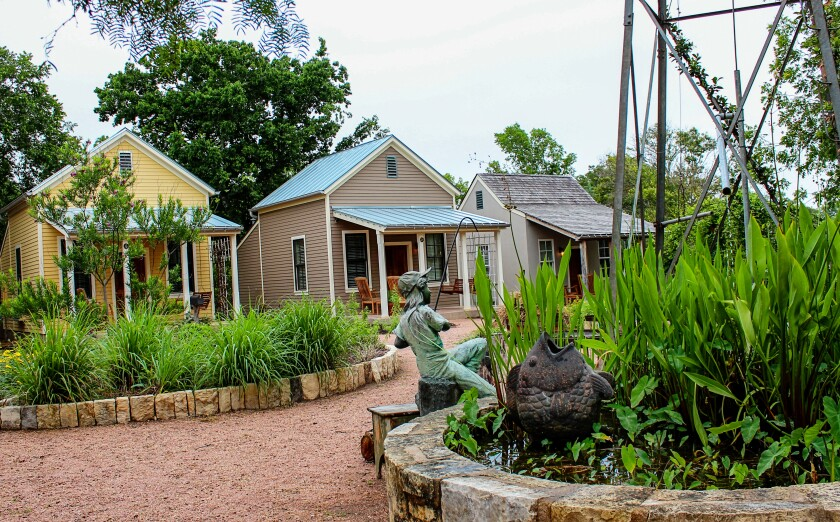 The tiny Fredericksburg Herb Farm cottages are available for rent starting at $159.