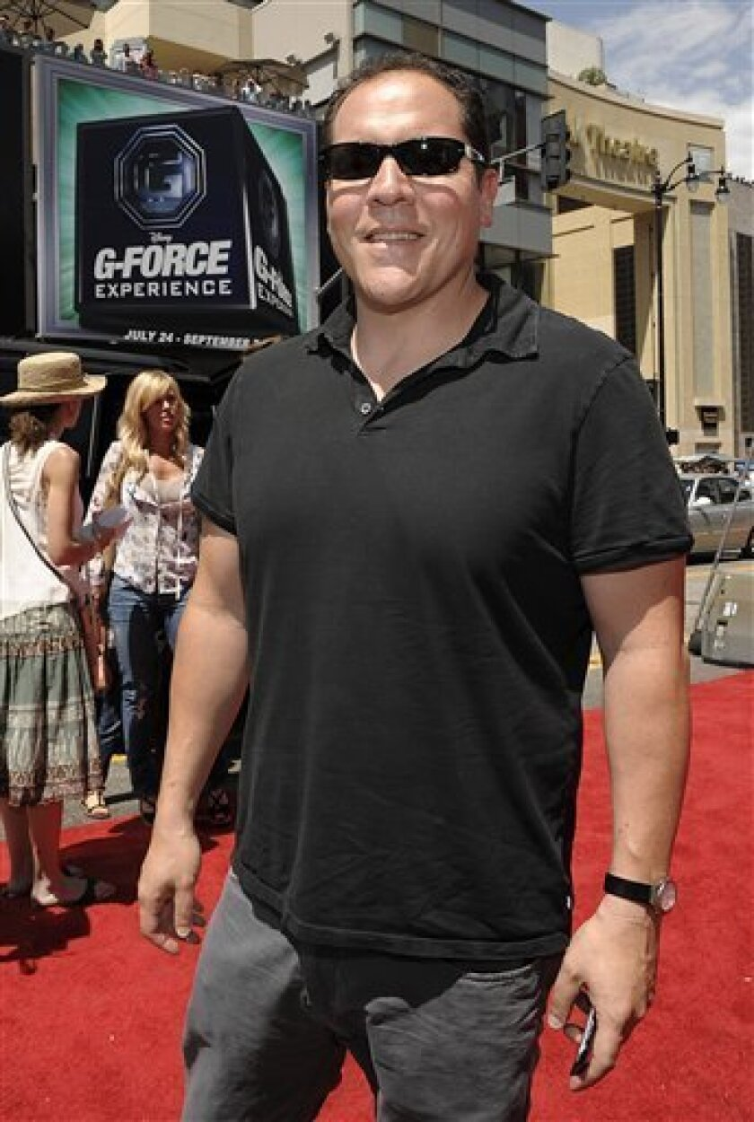 "Director Jon Favreau, here at the premiere of G-Force,"" will walk the red carpet at Comic-Con for the premiere of ""Cowboys & Aliens."" (AP Photo/Dan Steinberg)"