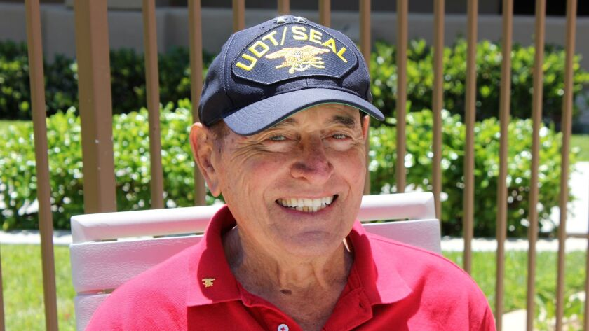Richard Lyon, a lengendary Navy SEAL and former mayor of Oceanside, shown here in 2012.