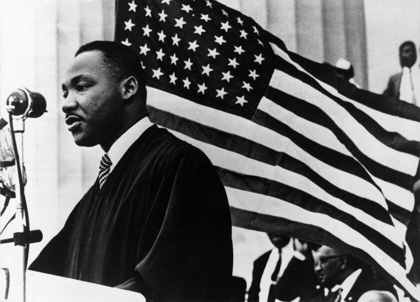 Martin Luther King Jr. preached, among other things, to love your enemy.