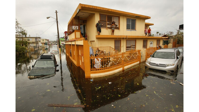The day after Hurricane Maria made a direct hit on Puerto Rico, residents of Isla Palmeras neighborh