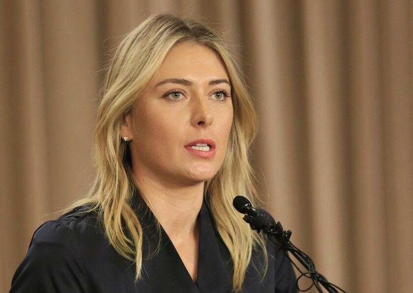 Maria Sharapova speaks about her failed drug test during a March 7 news conference in Los Angeles.