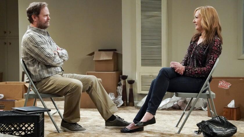 "Bonnie's (Allison Janney) therapist (Rainn Wilson) needs help in a new episode of ""Mom"" on CBS."