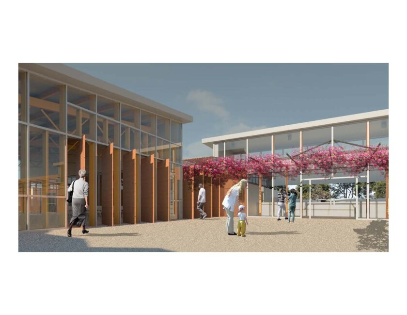 View of the proposed Del Mar civic center complex.