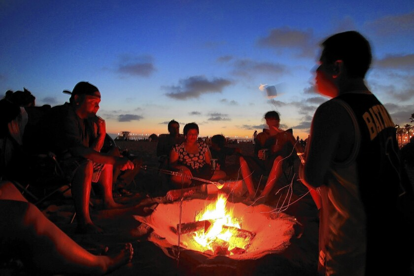 """Beach fires are """"the talk of the town right now,"""" according to Capt. Richard Marcello of Pacific Beach's Fire Station 21."""