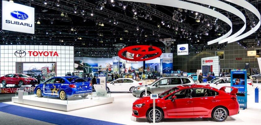 Toyota & Subaru exhibits
