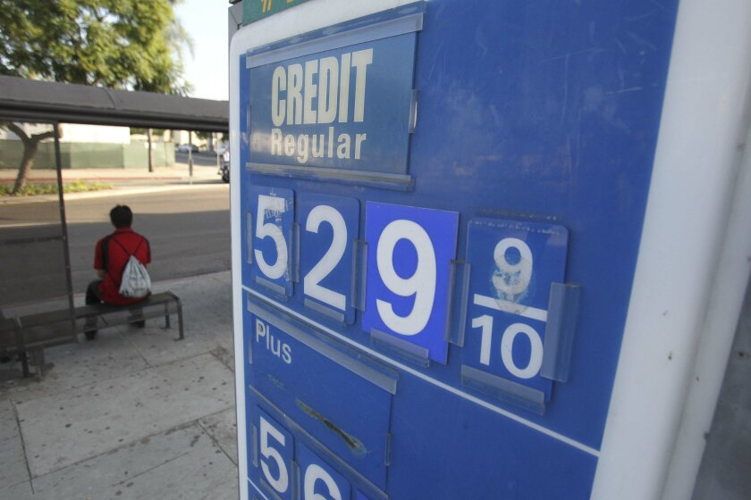 Gas is over five dollars per gallon at this station in the 4100 block of El Cajon Blvd.