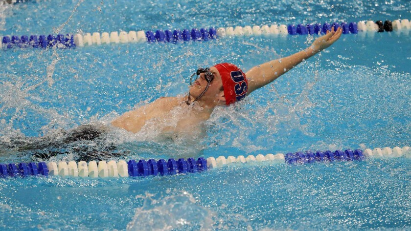 Bret Giebel of the United States competes in the Special Olympics on March 18 in Abu Dhabi, United Arab Emirates.