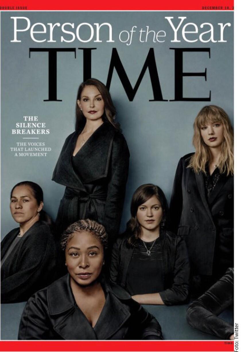 """La revista estadounidense Time nombró hoy Persona del Año a todas las mujeres que """"rompieron el silencio"""" sobre el acoso sexual."""