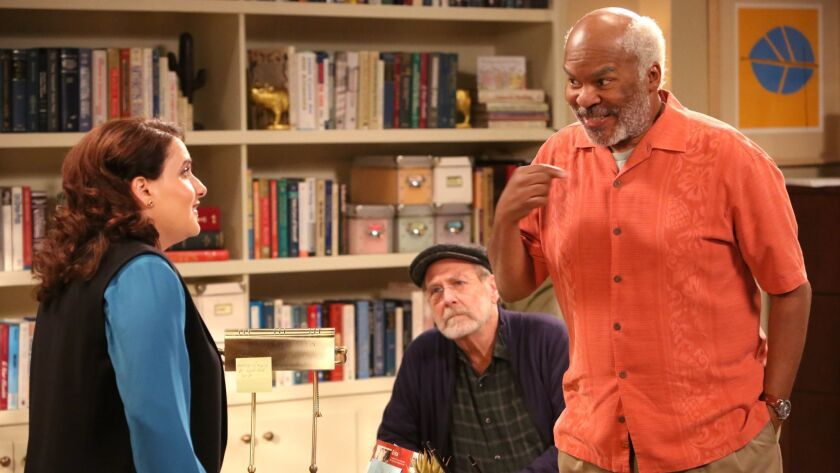 THE COOL KIDS: L-R: Artemis Pebdani, Martin Mull, and David Alan Grier in THE COOL KIDS premiering F