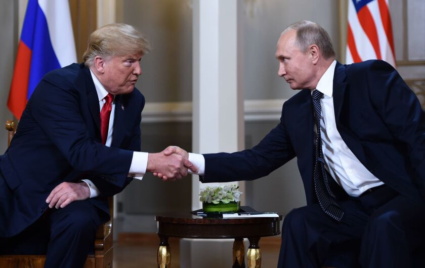 Trump S Deference To Putin Under Scrutiny After Bounty Reports Los Angeles Times