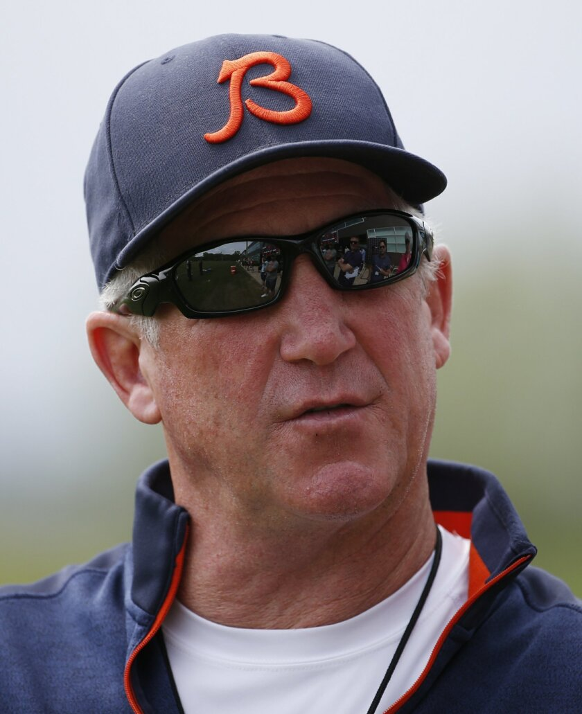 Chicago Bears head coach John Fox talks to the media during NFL football practice Wednesday, May 25, 2016, in Lake Forest, Ill. (AP Photo/Nam Y. Huh)