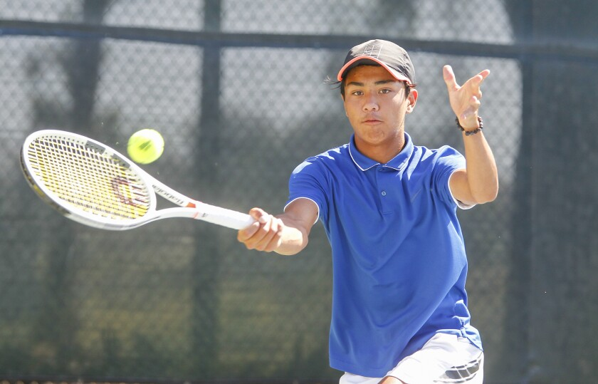 Rancho Bernardo's Jay Blando swept his three sets to help boost the Broncos to the San Diego Section Division I title.