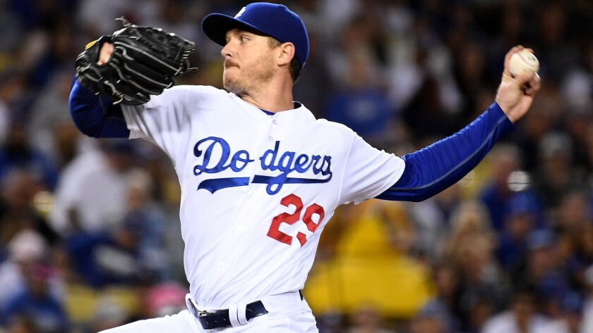 Dodgers starter Scott Kazmir exited after one inning Friday night because of another injury.